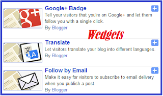 how to Add Widgets on Blogger