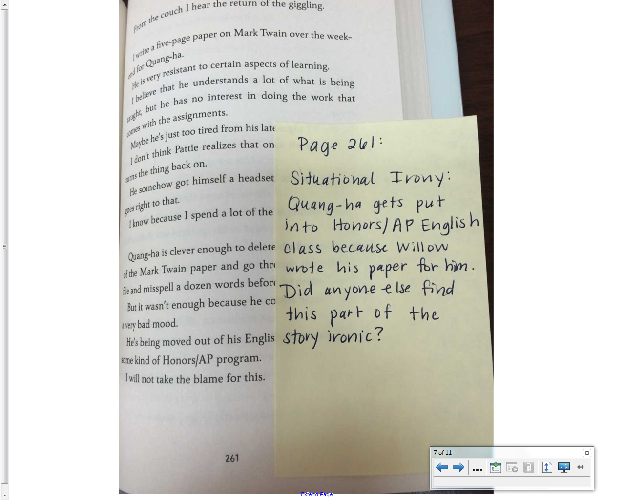 Middle School Teacher to Literacy Coach: November 2014