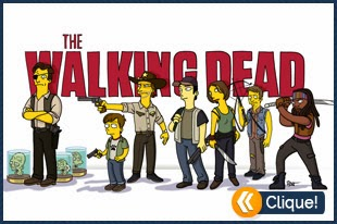 The Walkind Dead no estilo The Simpsons
