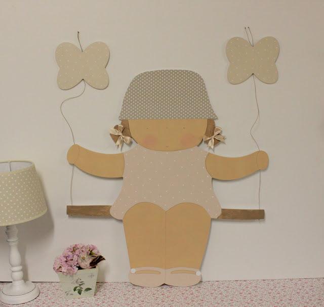 Siluetas infantiles personalizadas, artesanales para DECORACIÓN INFANTIL