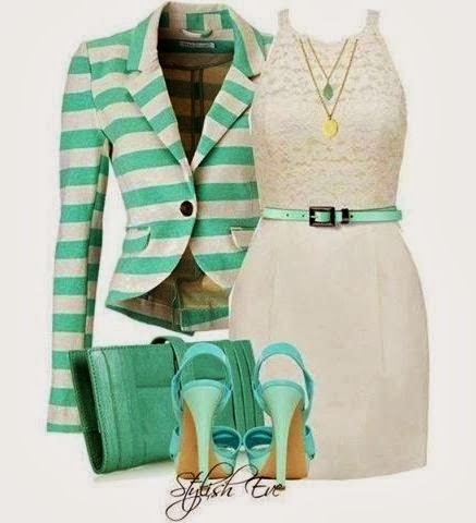 Adorable Green & White Outfit