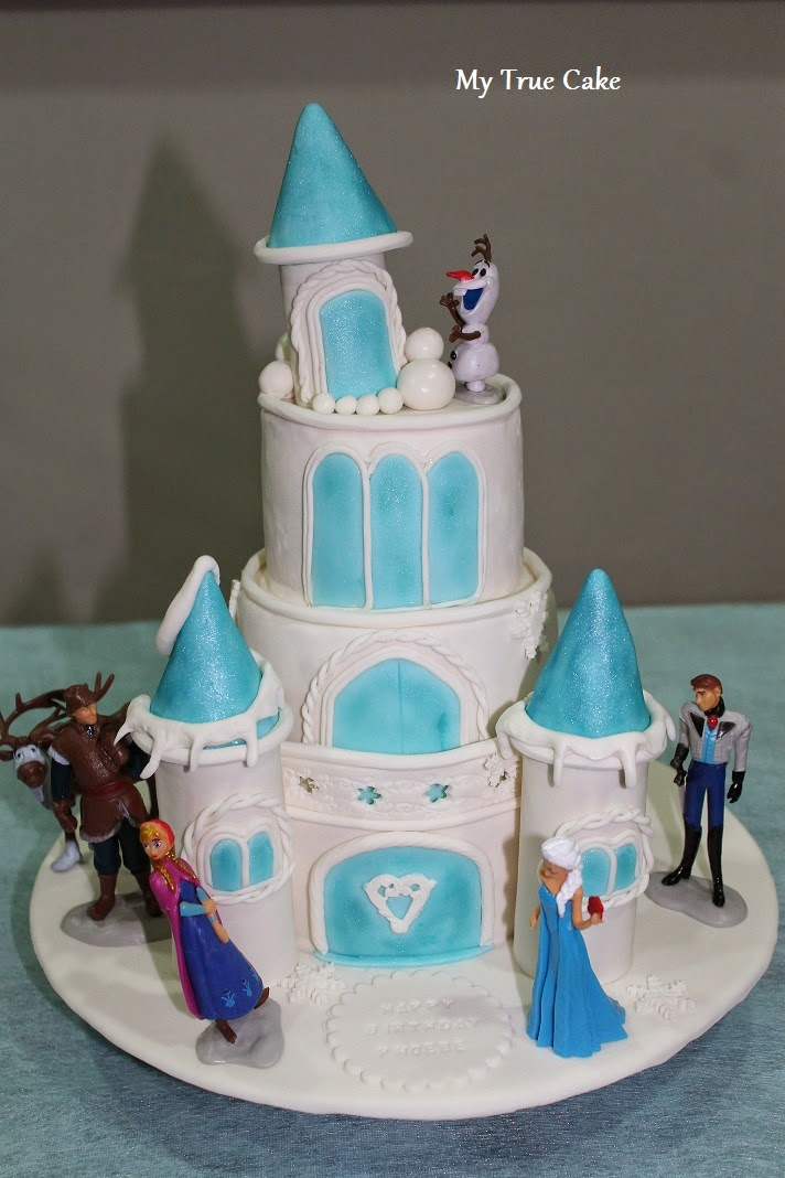 Elsa Frozen Castle Cake