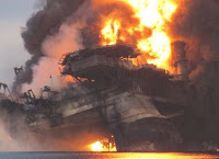 BP Deepwater Horizon rig burns