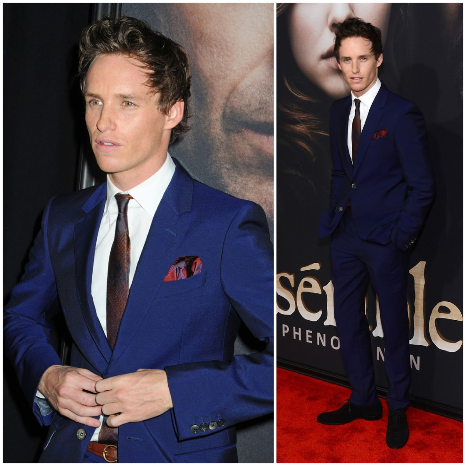 00O00 London Menswear Blog Eddie Redmayne in Alexander McQueen - 'Les Miserables' premiere, New York