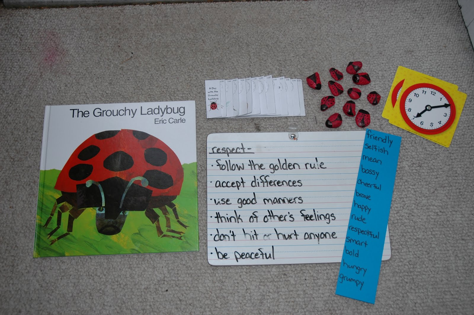 Grouchy Ladybug Activities