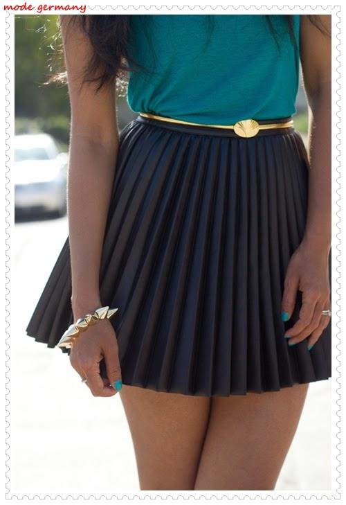 Falten Mini Röcke