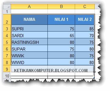 Blok atau seleksi data