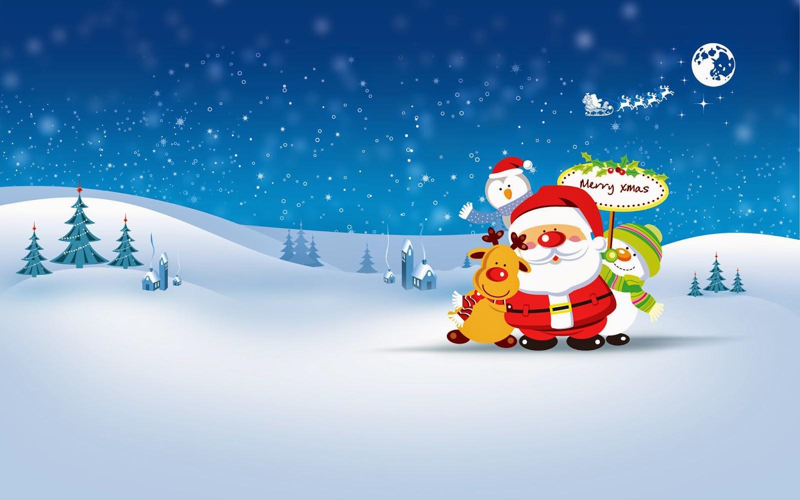 Cute Merry Christmas Wallpaper