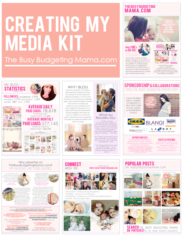 advertising media kit template - creating my media kit at home with natalie