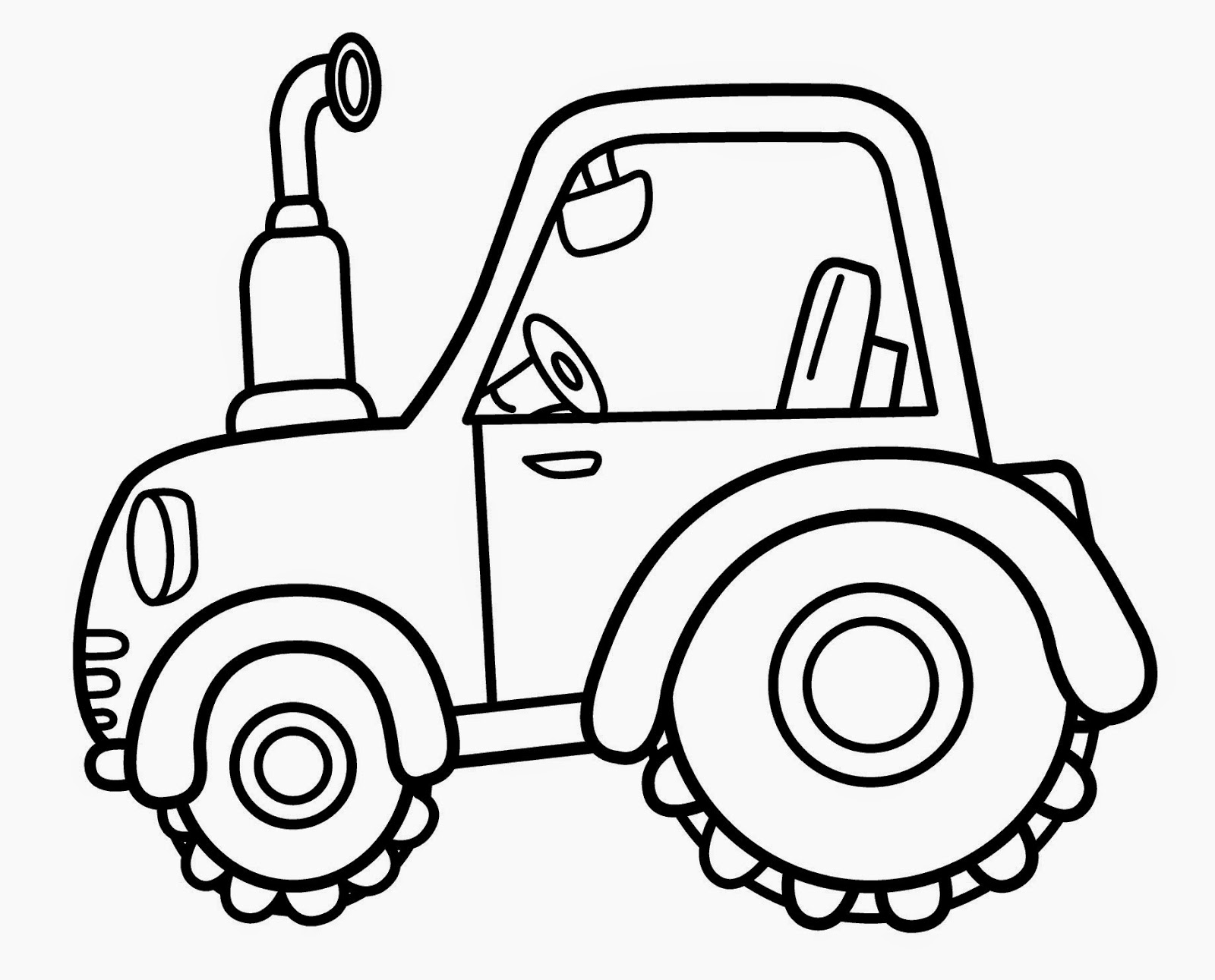 kids under 7 vehicles coloring pages