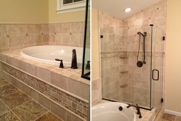 Travertine bathroom ideas bathroom designs for Travertine tile bathroom gallery