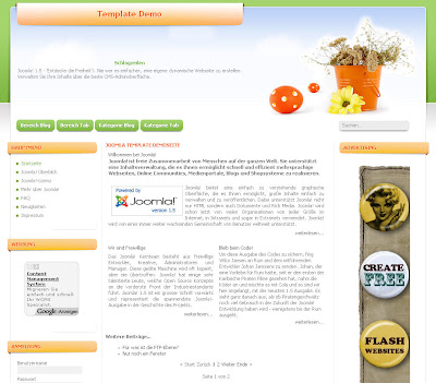 Siteground j15-142 (GreenEaster) - шаблон для Joomla 1.5