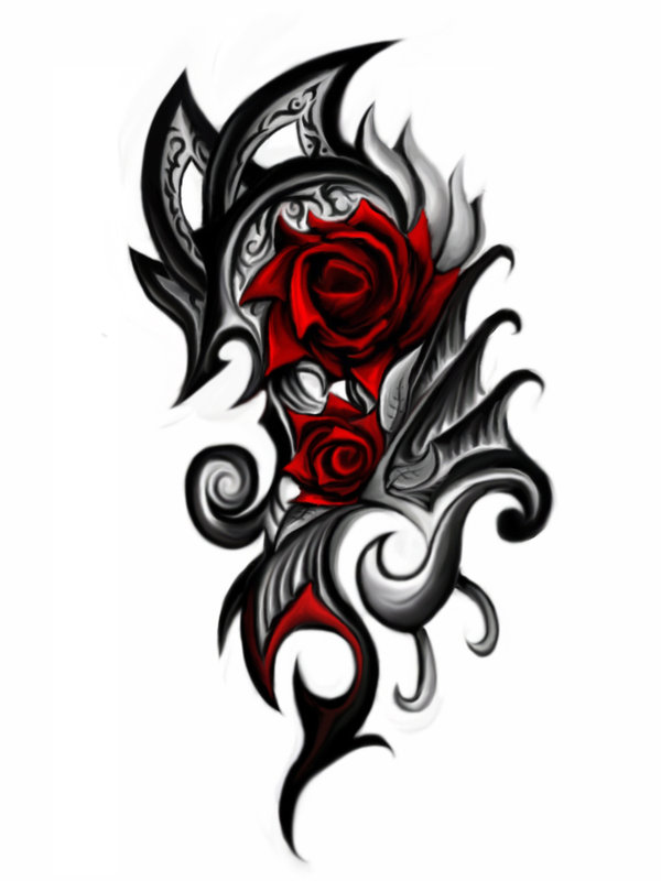 tatuajes de rosas tribales tatuajes imagen. Black Bedroom Furniture Sets. Home Design Ideas