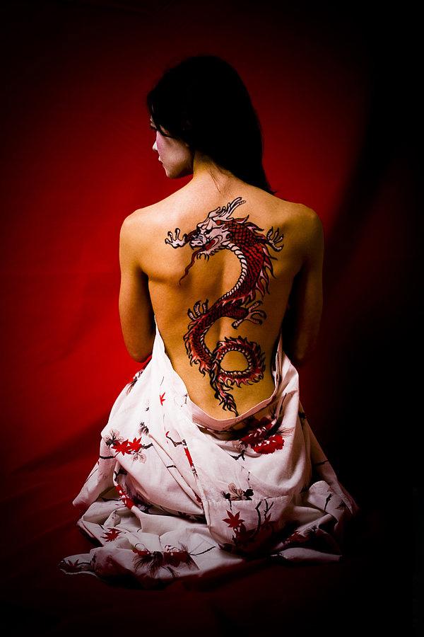 body dragon tattoo. Black Bedroom Furniture Sets. Home Design Ideas