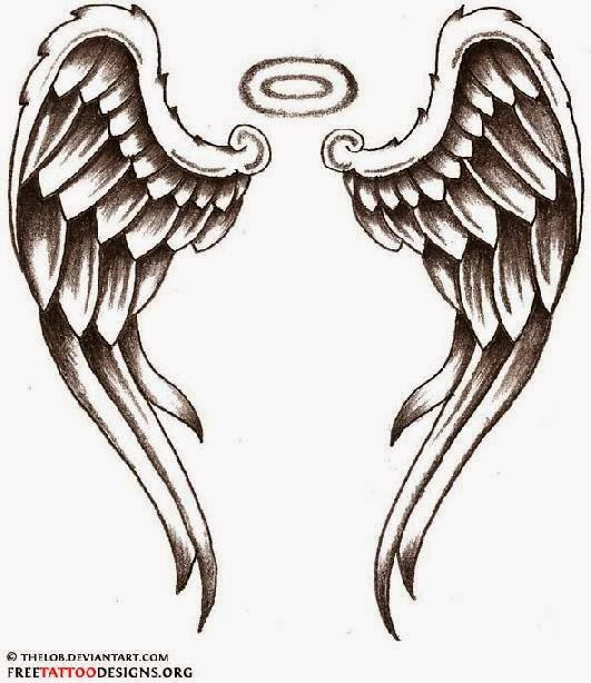 Tattoo t shirt tattoo designs for Angel wings tattoo with halo