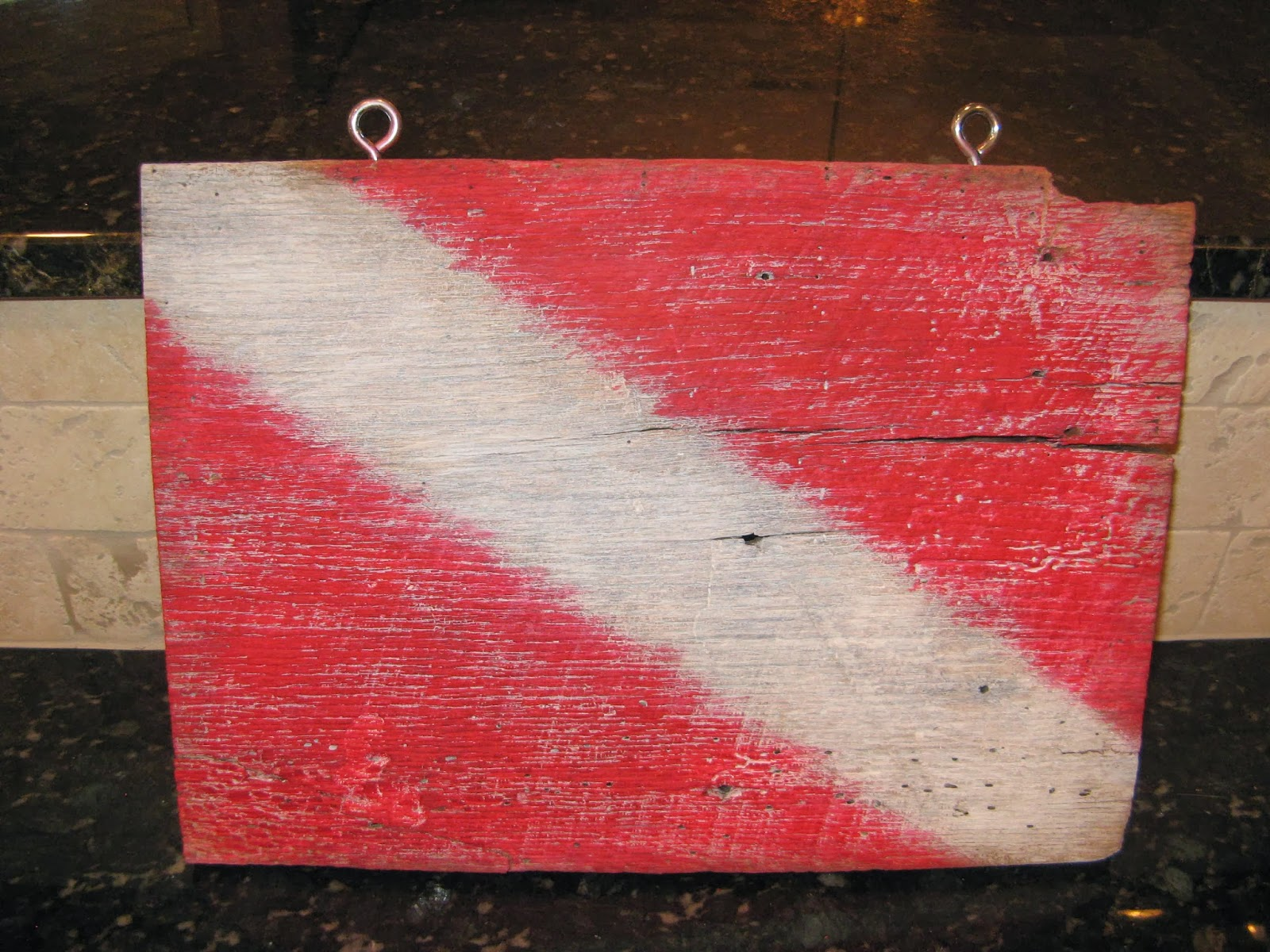 Barn Wood Dive Flag