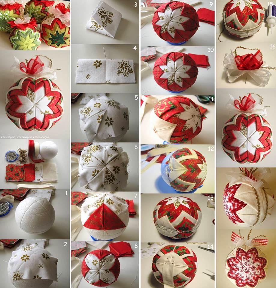 Decoracion En Telas Paso A Paso ~ como+hacer+esferas+navide?as+de+tela+paso+a+paso+adornos+elegantes