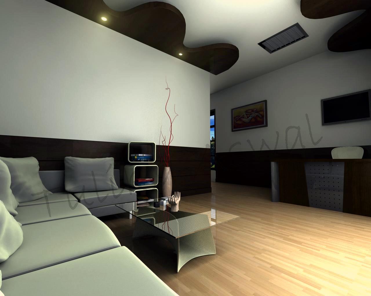 artist office. 3D Interior Model Artist Office I