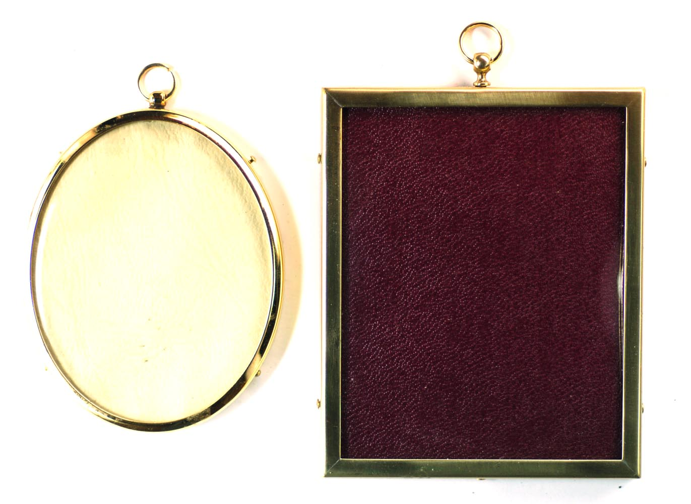 for later miniatures however there are two firms that do an admirable job of supplying brass gold plated and wooden frames and a few accessories - Miniature Frames