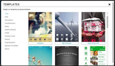 creare pagine App