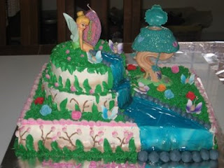 Beautiful Tinkerbell Birthday Cake
