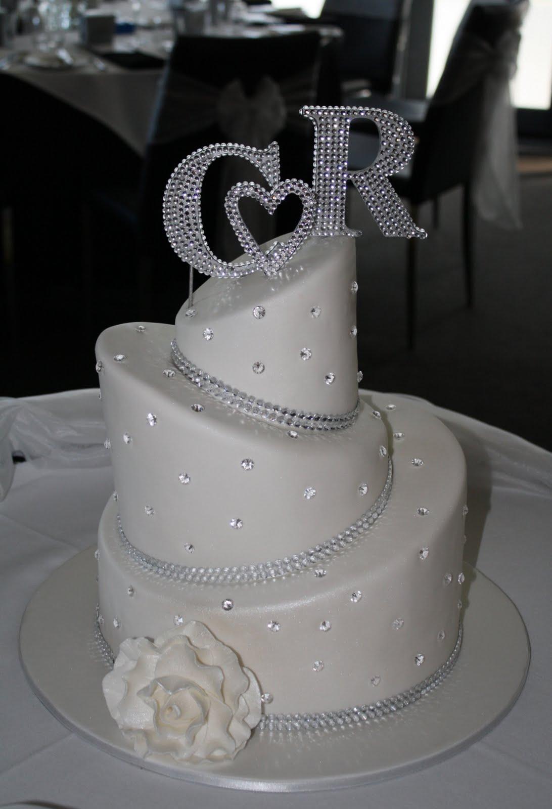 Sandy s Cakes Craig & Rachel s Blingy Wedding Cake just