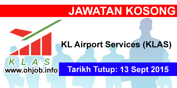 Jawatan Kerja Kosong KL Airport Services (KLAS) logo www.ohjob.info september 2015