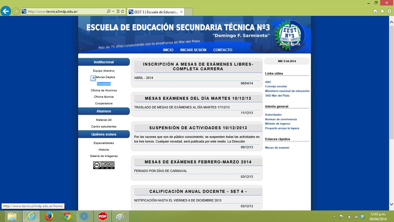 Escuela de Educación Secundaria Técnica N°3