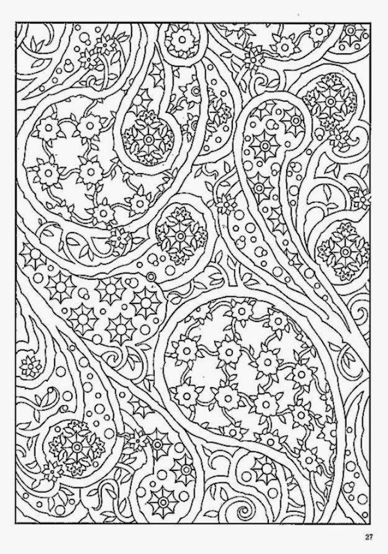Abstract Design Coloring Sheets