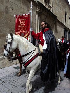 Pregón a caballo de las Siete Palabras. Jueves Santo. Foto G. Márquez