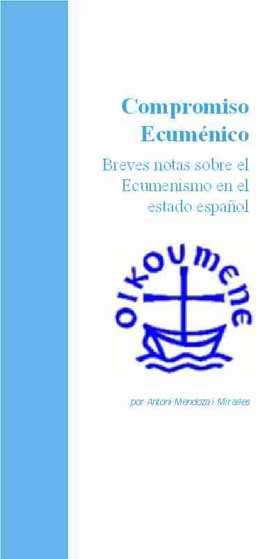 Antoni Mendoza i Miralles-Compromiso Ecuménico-