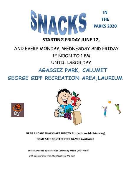 Snacks in the Parks starting June 12