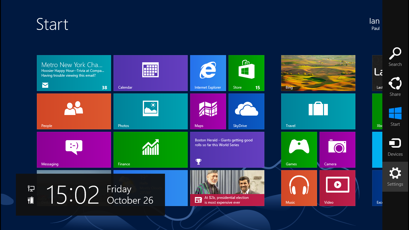������ ������ ��� ����� � Windows 8