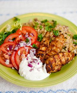 kalorier grillad kyckling med skinn