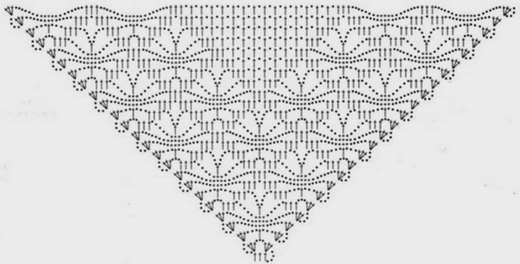 Free Crochet Shawl Diagram : Stylish Easy Crochet: Crochet Shawl Pattern - Classic Crochet