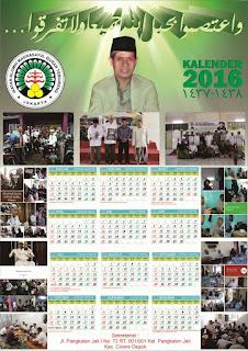 Desain Kalender 2016 1 Halaman