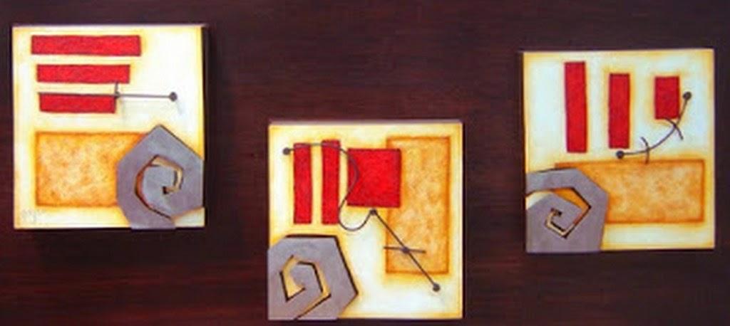 Cuadros modernos pinturas y dibujos 20 cuadros for Cuadros tripticos modernos para comedor