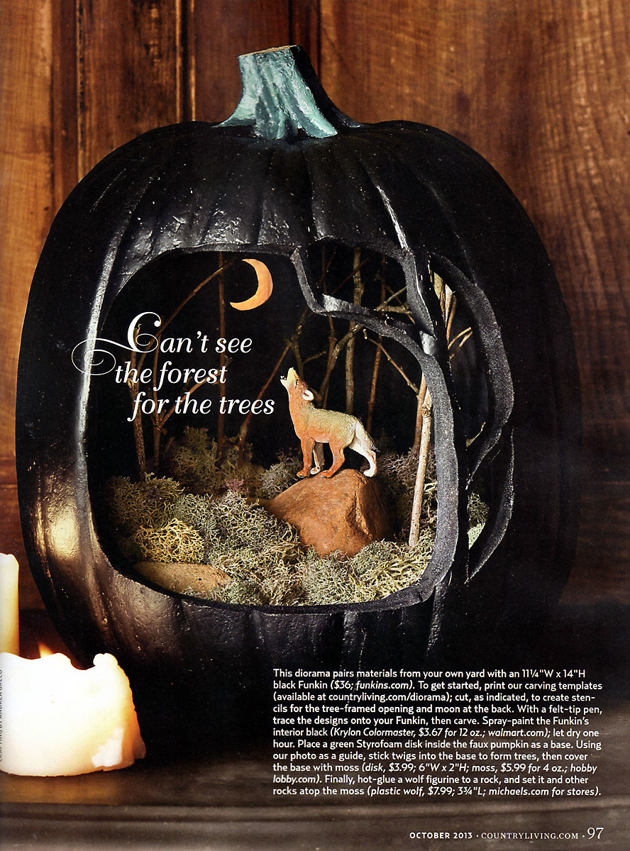 Old Fashion Halloween: Country Living October Issue