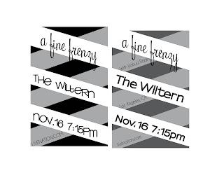 Black and White Concert Poster egano Eileen Gano