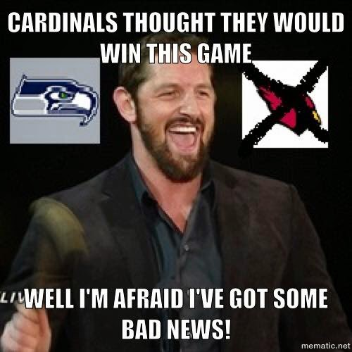 cardinals thought they would win this game. well I'm afraid I've got some bad news!