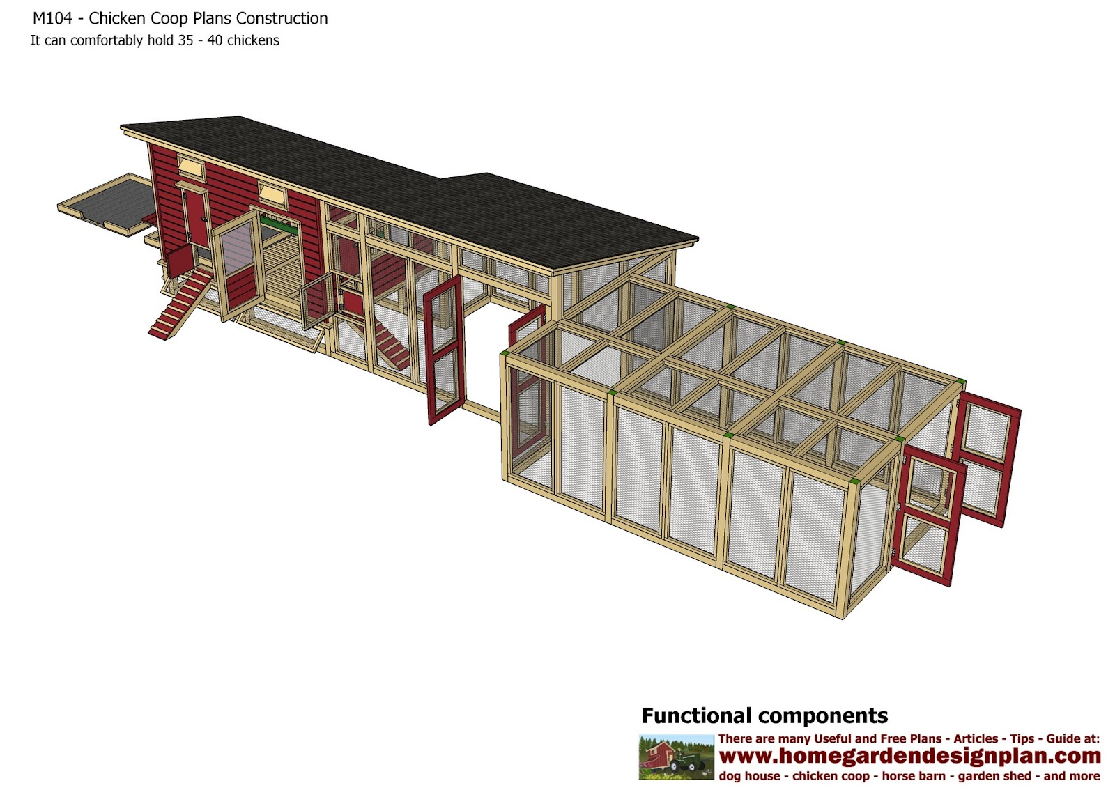 Chicken House Plans For 50 Chickens Coop Chikens Download 50 Chicken Coop Plans