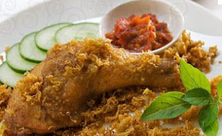 Fried Chicken with Crispy Flakes (Ayam Goreng Kremes)