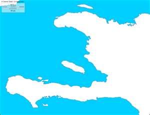 Mapa de Haití (mudo)