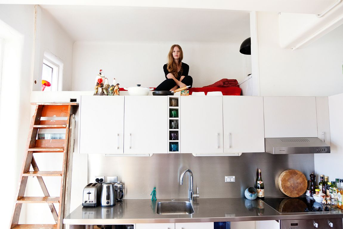 Catalogued life compact living in sydney making every for Small loft design