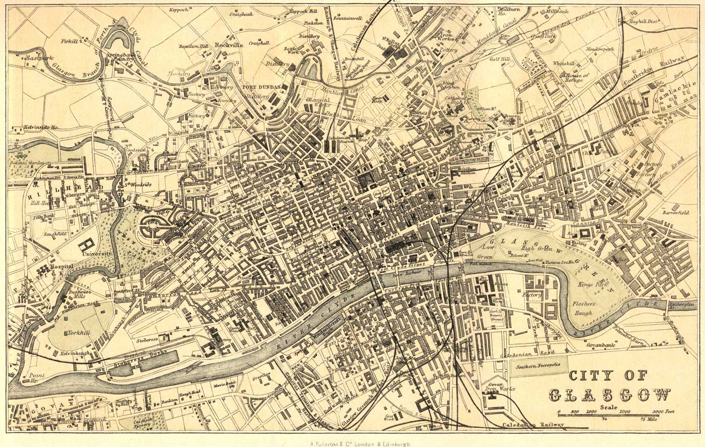 map of the week 1 9 2012old glasgow scotland