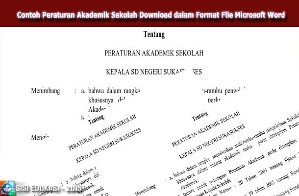 Contoh Peraturan Akademik Sekolah Download dalam Format File Microsoft Word