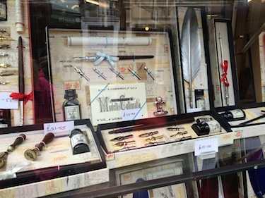 Chuck and Lori's Travel Blog - Old Fashioned Writing Tools Shop, Durham, England