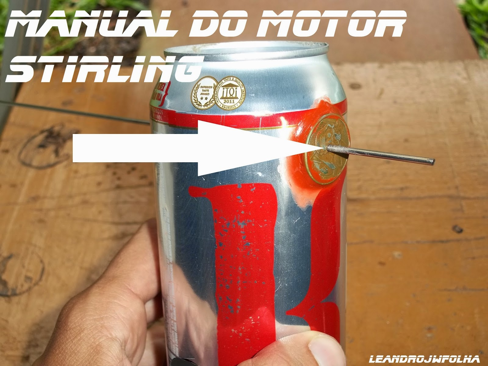 Cojinetes del cigüeñal hechos con monedas, Manual do motor Stirling