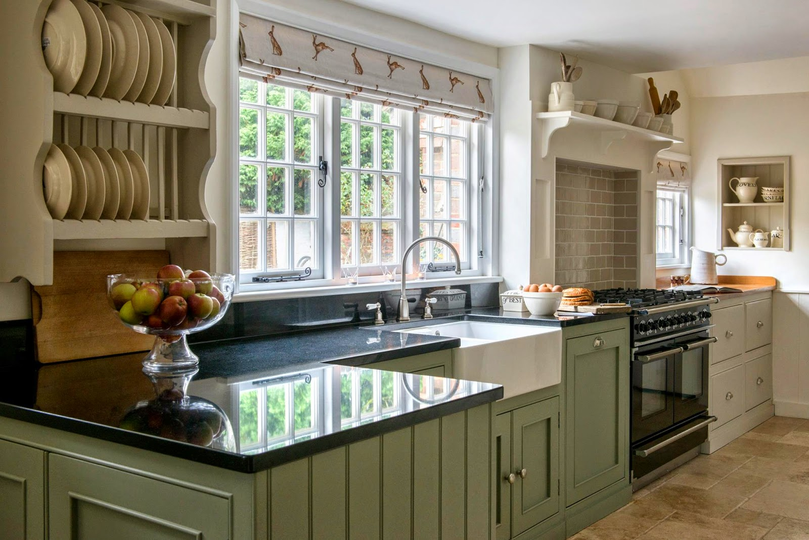 Modern country style modern country kitchen and colour scheme for Country kitchen cabinets