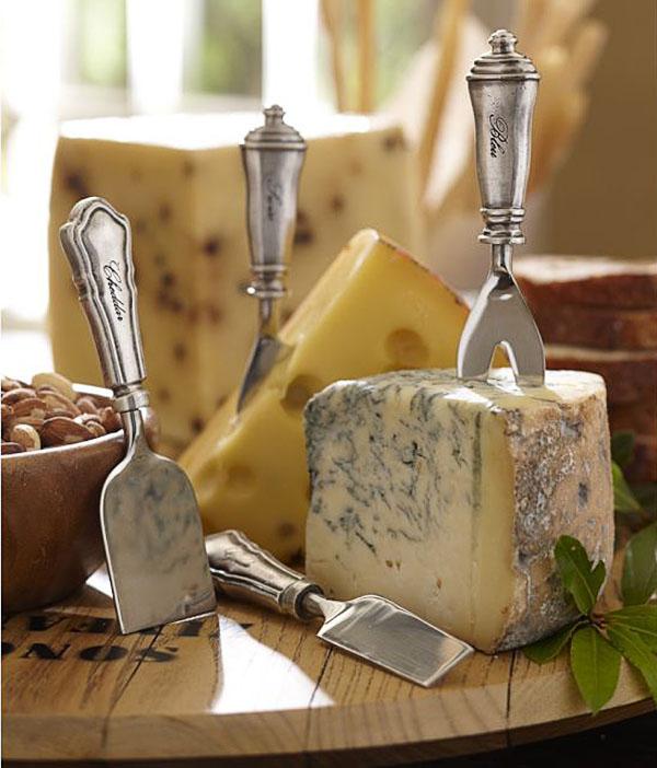 tabla de quesos con cuchillos de queso tabla de madera
